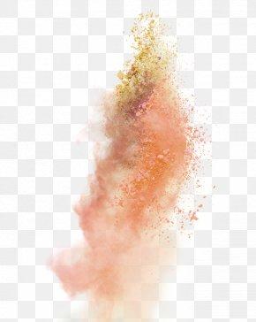 Orange Simple Explosion Effect Element - Explosion Dust Purple PNG