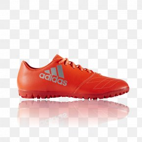 Adidas - Adidas X 163 TF Leather Solar Red Footwear Shoe Football Boot PNG