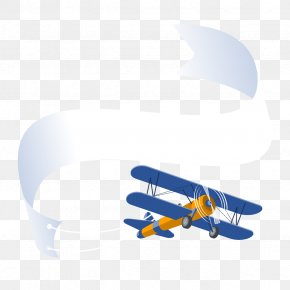 Vector Airplane Banner - Airplane Aircraft Banner PNG