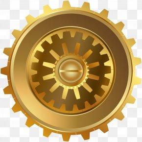 Gold Steampunk Gear Clip Art Image - Gear Clip Art PNG