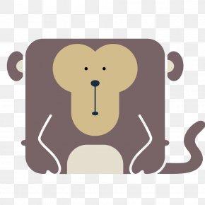Vector Cartoon Monkey - Giant Panda Animal Icon PNG