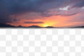 Golden Sunset - Sky Cloud Computer Wallpaper PNG