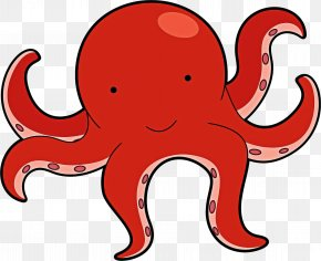 Animal Figure Giant Pacific Octopus - Octopus Cartoon PNG