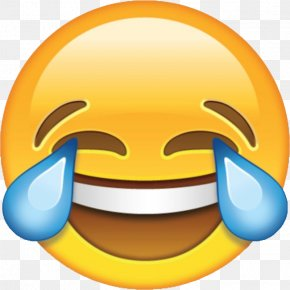 Crying Emoji Transparent Image - Laughter Face With Tears Of Joy Emoji Emoticon Clip Art PNG