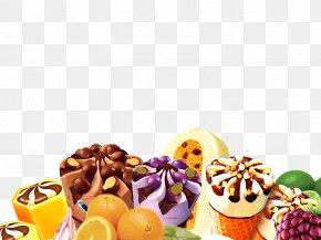 Fruit,ice Cream,ice Cream - Ice Cream Dessert Petit Four Fruit PNG