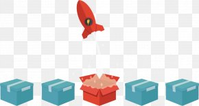 Vector Rocket Box - Euclidean Vector PNG