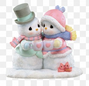 Hugging Snowman - Precious Moments, Inc. Figurine Snowman Gift Christmas Village PNG