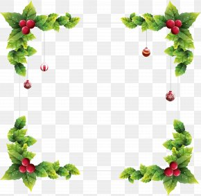 Garland Frame - Christmas Ornament Picture Frames Clip Art PNG