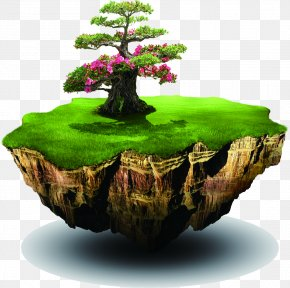 Green Tree Island Design - Air Pollution Greenhouse Gas Atmosphere Of Earth Water Pollution PNG