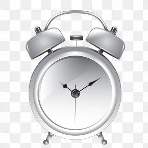 Small Silver Alarm Clock - Alarm Clock Table Silver PNG