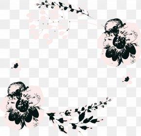 Blossom Flower - Black-and-white Plant Flower Blossom Clip Art PNG