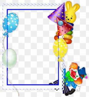 Party Frame Cliparts - Picture Frame Birthday Party Clip Art PNG