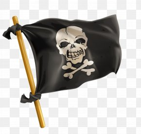 Vector Cartoon Pirate Flag Banner Black Creative - Jolly Roger Piracy Stock Photography Royalty-free PNG