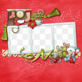 Pretty Red Frame - Picture Frame Christmas Photography Clip Art PNG