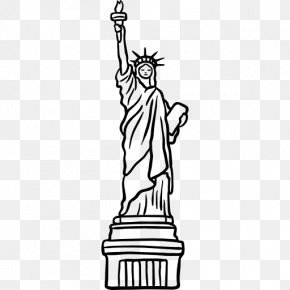 The Statue Of Libertystripes - Statue Of Liberty Clip Art PNG