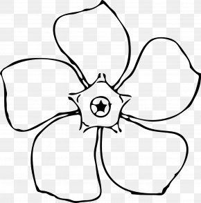 Black And White Pictures Of Flowers To Draw - Line Art Drawing Flower Clip Art PNG