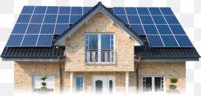 House - Solar Power Solar Panels Renewable Energy Solar Energy Photovoltaic System PNG