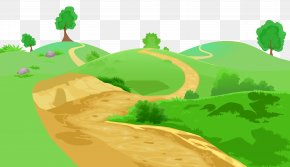 Grass And Pathway Transparent Clip Art Image - Clip Art PNG