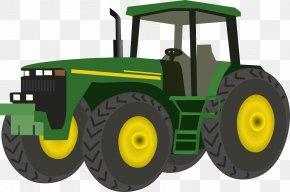 Green Tractor - John Deere Clip Art: Transportation Tractor Agriculture Clip Art PNG