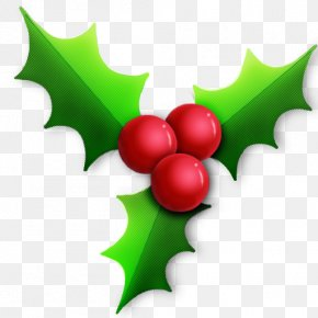Christmas Holly - Santa Claus Candy Cane Christmas PNG
