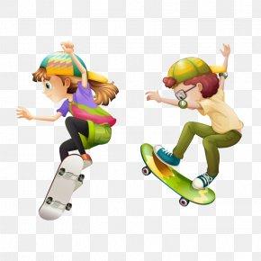 Cartoon Characters,Skateboard Boy - Skateboarding Clip Art PNG