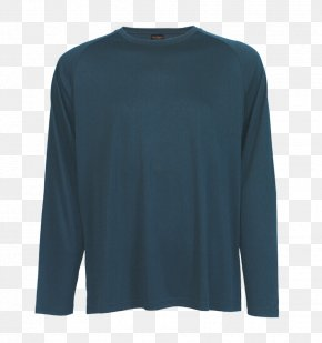T-shirt - Long-sleeved T-shirt Long-sleeved T-shirt Electric Blue PNG