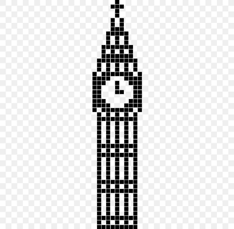 Big Ben Cross Stitch Pixel Art Bead Png 800x800px Big Ben Bead Black Black And White