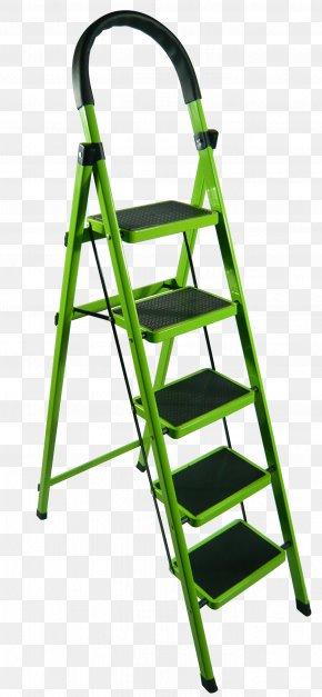Green Aluminum Stairs - Ladder Stairs Aluminium PNG