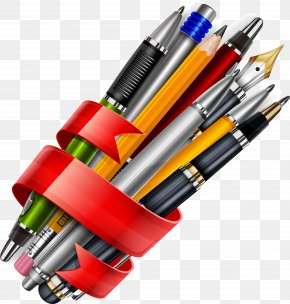 A Variety Of Pen With Three-dimensional Vector Map - Pen Euclidean Vector Three-dimensional Space PNG