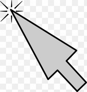 Mouse Cursor - Line Art Angle Point Area PNG