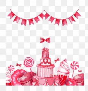 Vector Flag Pull Lollipop - Doughnut Birthday Cake Chocolate Cake Dessert PNG