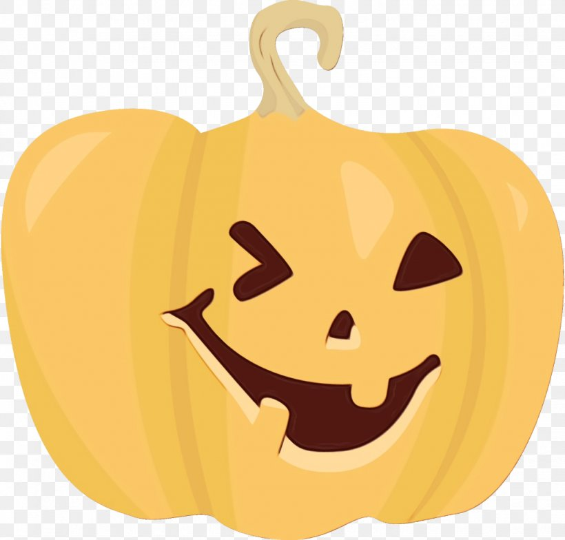 Pumpkin, PNG, 1028x984px, Watercolor, Calabaza, Facial Expression, Jackolantern, Orange Download Free