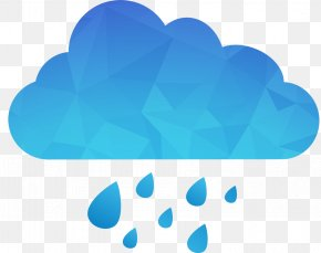 Blue Cloud Rain Vector - Rain Cloud Euclidean Vector Storm PNG