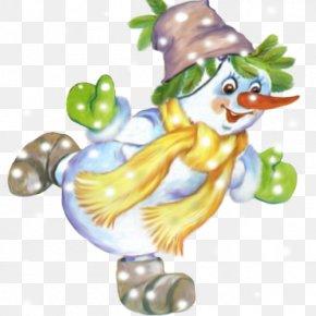 Cheerful Snowman - Christmas Tree Snowman New Year Clip Art PNG