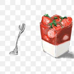 Strawberry Ice Cream - Ice Cream Breakfast Dessert Food PNG