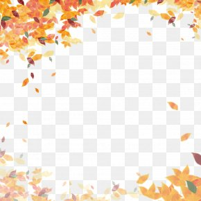 Autumn Poster Frame - Autumn Leaf Color Clip Art PNG