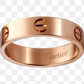 Ring - Cartier Ring Love Bracelet Jewellery Gold PNG