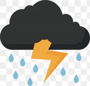 Thunder, Rain, Sky - Thunder Lightning Clip Art PNG