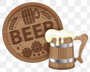 Oktoberfest Beer Barrel And Mug Clipart Picture - Beer Barrel Keg Clip Art PNG