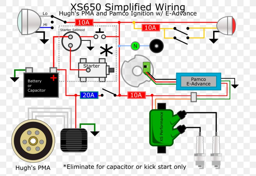 Wiring Diagram With Accessory And Ignition Cafe Racer