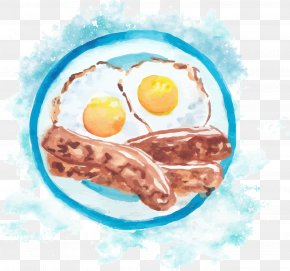 Vector Hand-painted Bacon Omelette - Fried Egg Breakfast Bacon, Egg And Cheese Sandwich Ham PNG