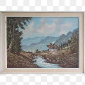 Hand-painted Mountain Landscape Painting - Watercolor Painting Picture Frames Landscape PNG