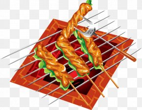 Barbecue - Barbecue Grill Kebab Meat Chuan Roasting PNG