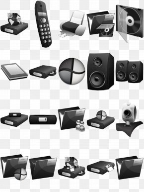3d Black And White Appliances - Black And White Home Appliance Graphic Design PNG