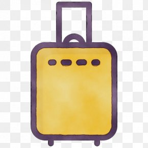 Rectangle Suitcase - Yellow Suitcase Rectangle PNG