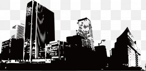 Silhouette Buildings - Building Euclidean Vector PNG