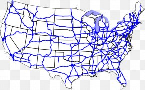 Read Across America - US Interstate Highway System Interstate 70 Road Interstate 40 Map PNG