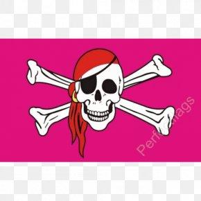 Skull Flag - Jolly Roger Piracy Rainbow Flag Totenkopf Skull And Crossbones PNG