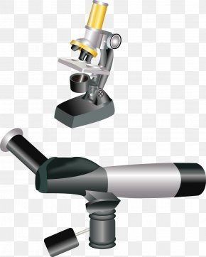 Microscope Image Vector Material - Microscope Cartoon Clip Art PNG