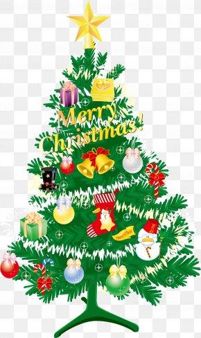 Christmas Tree Vector - Christmas Tree Christmas Gift Santa Claus PNG